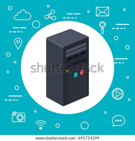 case of computer server