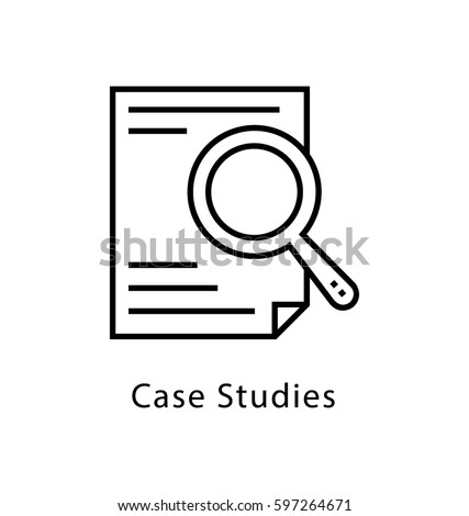 Case Studies Vector Line Icon