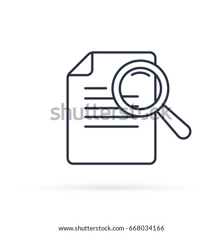 Case Studies Vector Line Icon. Infographic Element about Web Development. Flat Thin Line Icon Pictogram for Website and Mobile Application Graphics. Isolated on white vector illustration