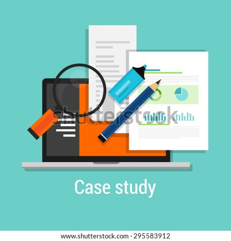 case study studies icon flat paper symbol chart
