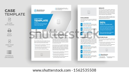 Case Study Template | Flyer Template | Double Side Flyer| Brochure Cover | Poster design with Case Study