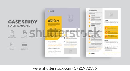 Case Study Template, Flyer Template, Double Side Flyer, Brochure Cover, Poster design with Case Study Booklet ストックフォト ©