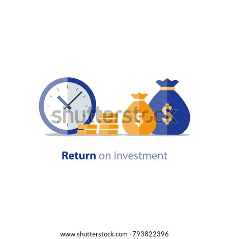 Cash advance, provide money, financial period, annual payment, income growth, finance productivity, return on investment, budget planning, accounting concept, audit report, vector flat icon