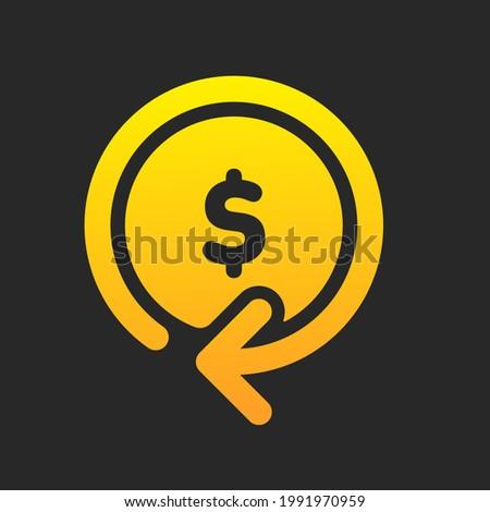 Cash back vector icon. Isolated return money rebate sign design. Stock photo ©