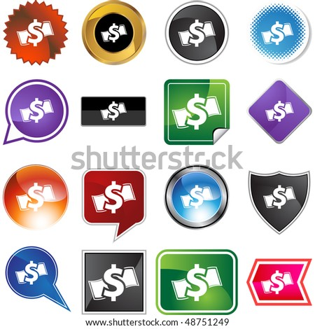 Cash button isolated on a background.