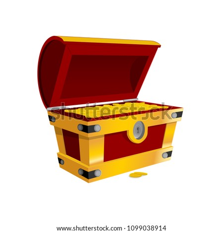 cash is king treasurebox vector