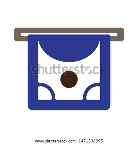 cash-machine icon. flat illustration of cash-machine - vector icon. cash-machine sign symbol