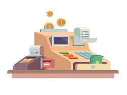Cash register apparatus