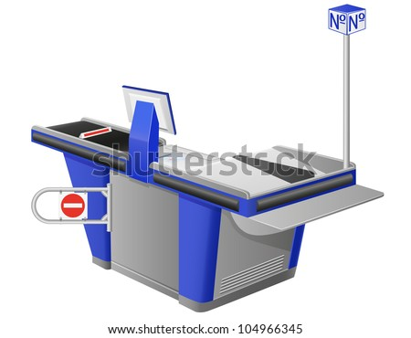 cash register terminal vector illustration isolated on white background