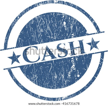 Cash rubber grunge stamp