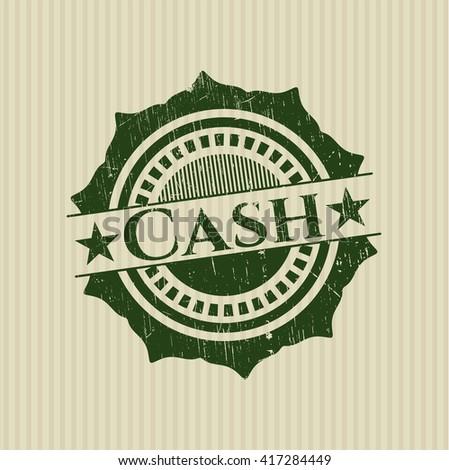 Cash rubber grunge texture stamp