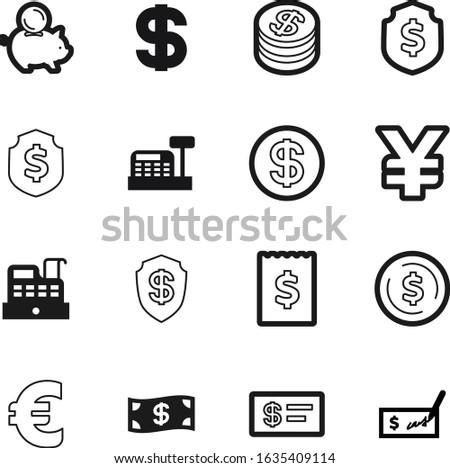 cash vector icon set such as: billing, sales, receipt, american, window, stack, hand, bills, modern, checkbook, debt, machine, meter, gradient, exchange, internet, account, usd, logo, till, green