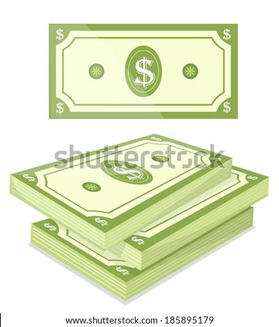 Cash - Vector illustration - stock vector