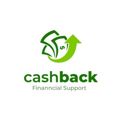 Cashback logo vector design. Money logo template. Business and finance icon. Money with arrow up. Currency. Financial support.