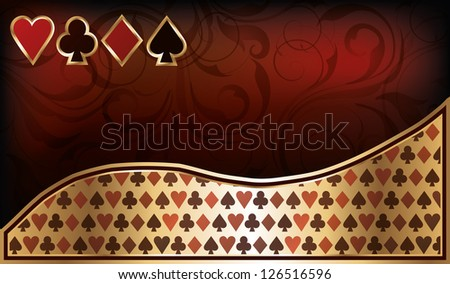 Casino business card, vector illustration