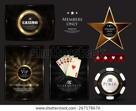 casino card design poker ace