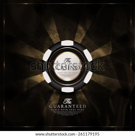 casino card design vintage...