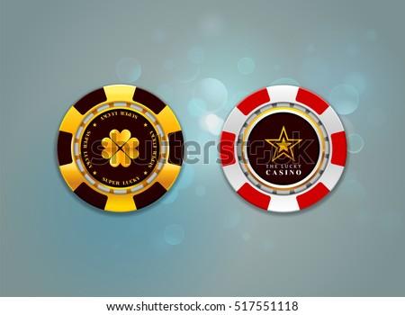 casino chips on the bokeh