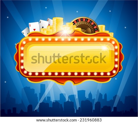 casino city background vector
