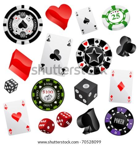 casino design elements vector