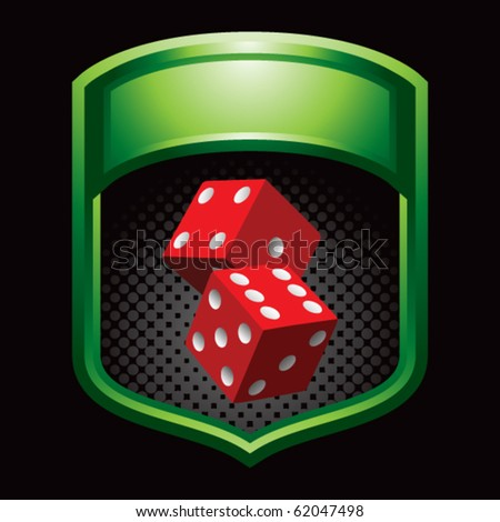 casino dice green shiny display