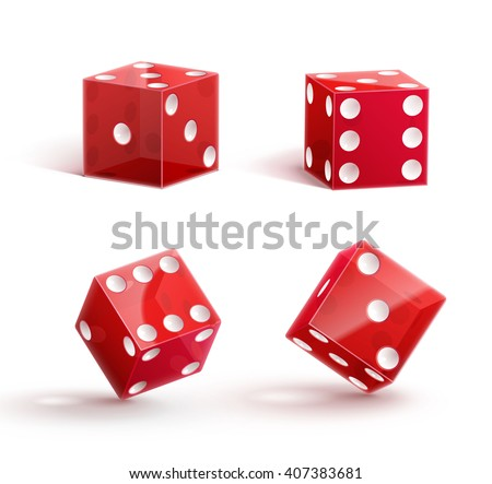 casino dice  icon   isolated on