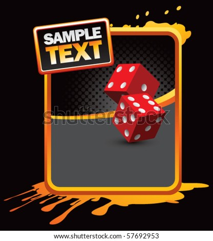 casino dice orange splattered ad