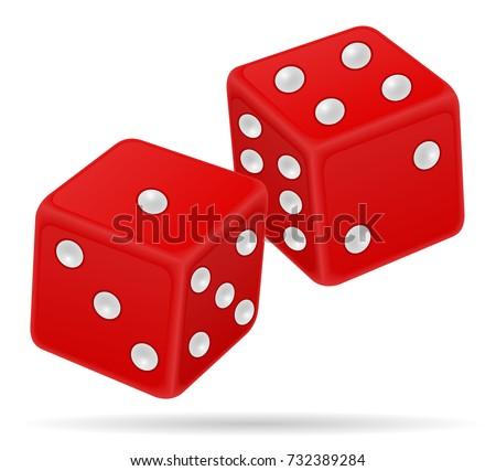 casino dice stock vector