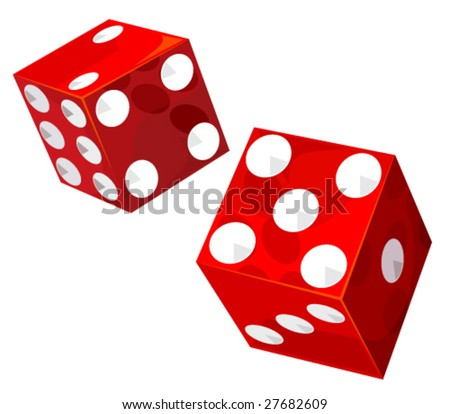 Casino dice. Vector without transparencies and gradients!