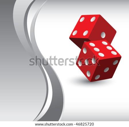 casino dice vertical silver wave backdrop