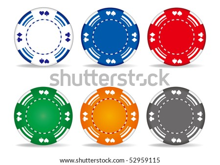 casino elements,gambling chips - stock vector
