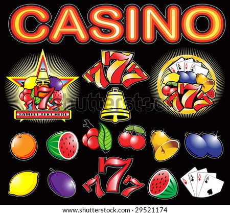 Casino elements high detail vector