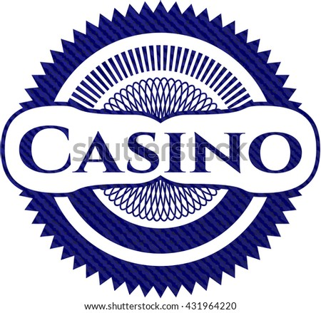 Casino emblem with jean background
