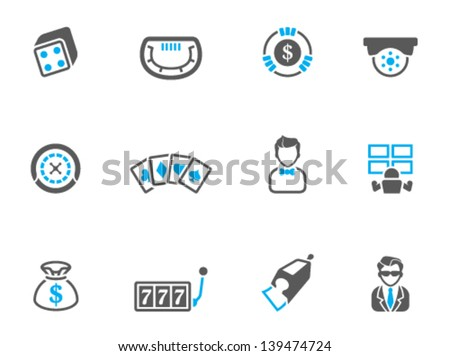 Casino icons in duo tone colors