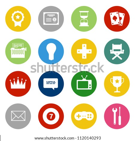 Casino Icons set - vector gambling money illustrations, video game icons set. computer play sign and symbols