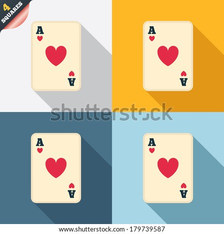 Casino Sign Icon Playing Card
