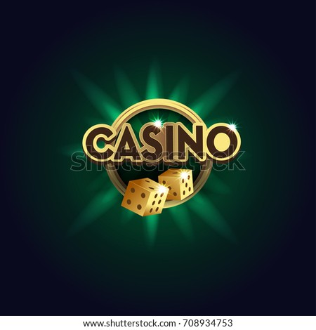 casino sign with golden dices....