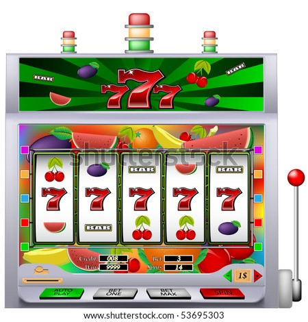 casino slot machine with colorful background vector illustration