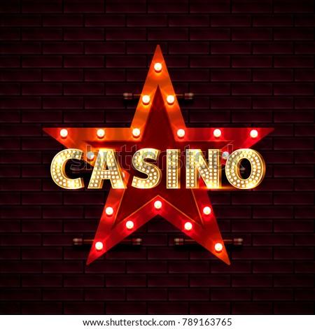 casino star frame banner text