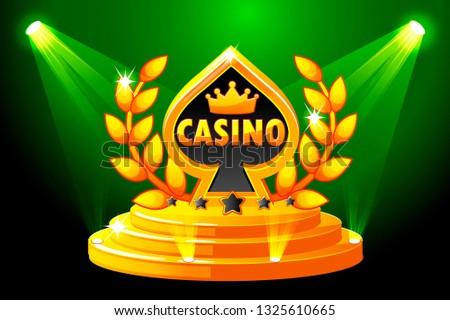 casino symbol banner with