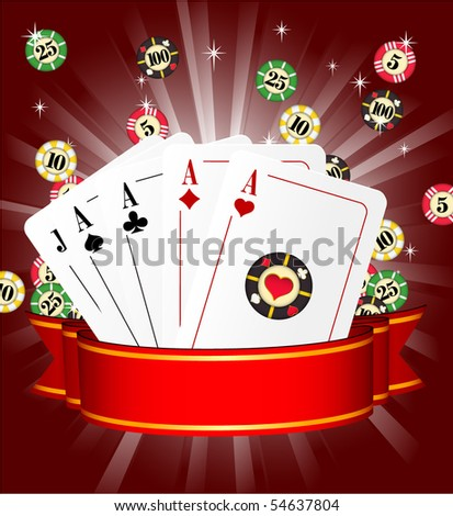 Casino vector template.