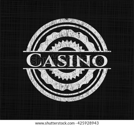 Casino with chalkboard texture