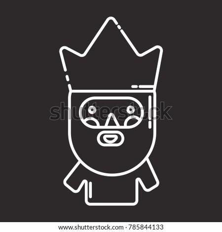 caspar king icon  flat black