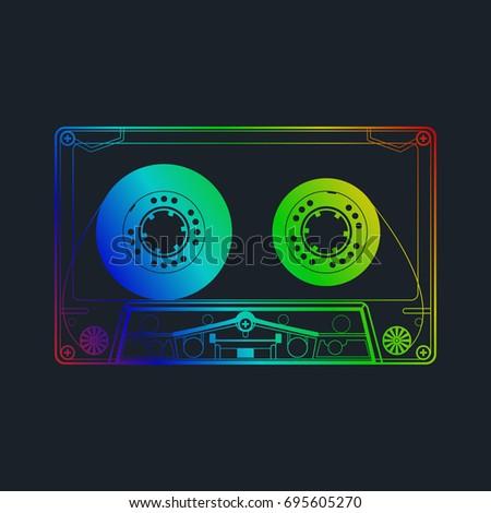 cassette music old fashion