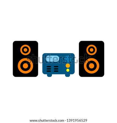 Cassette Player Colored stereo system icon