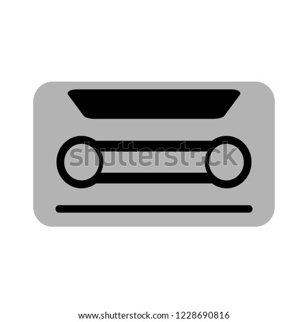 cassette tape icon. Audio cassette tape isolated on white background
