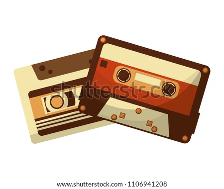cassettes music retro style