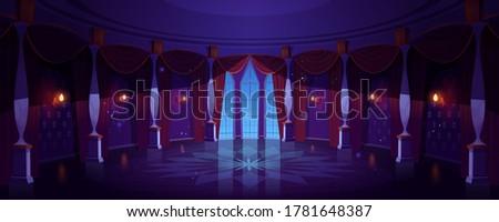 castle ballroom  night empty