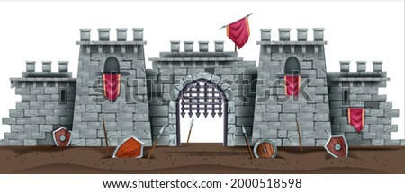 castle brick wall seamless