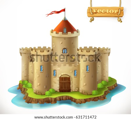 castle  3d vector icon